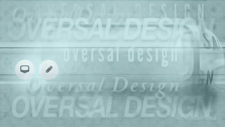 Oversal design green banner with round graphics