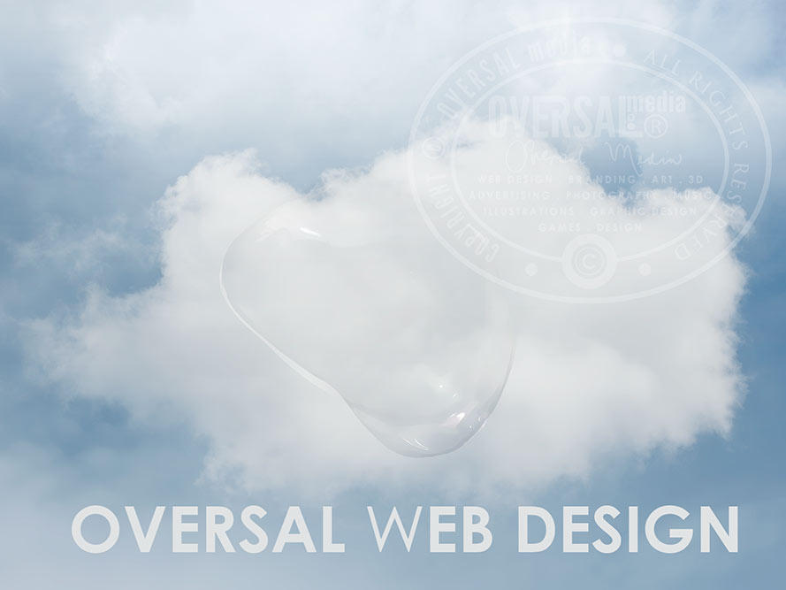 Web Design Cloud And Water Bubble Illustration