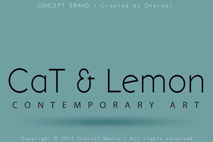 Cat and Lemon concept brand