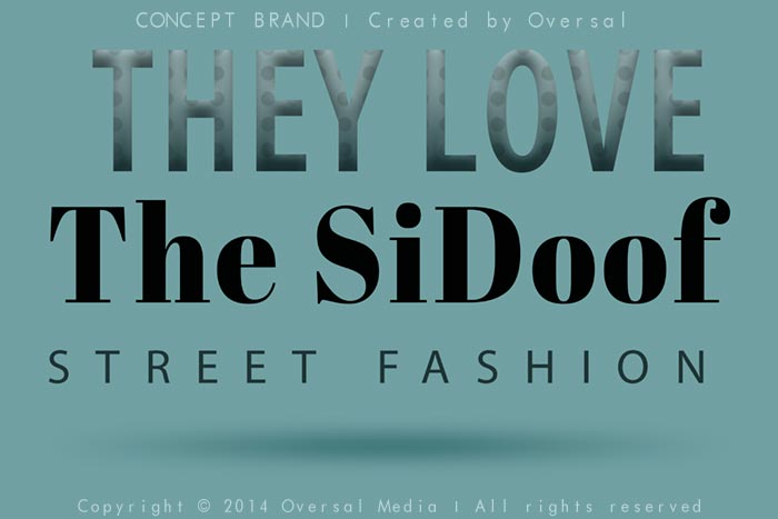 They Love The Sidoof concept brand