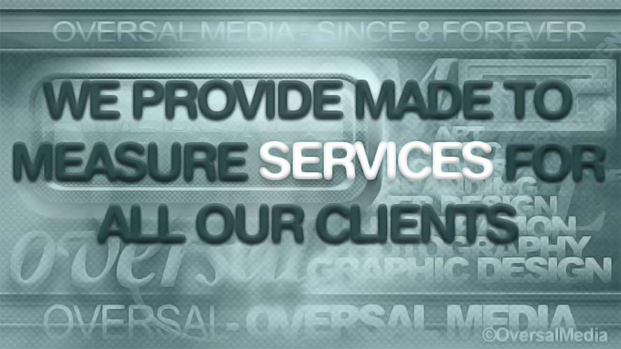 Custom made service provider green banner