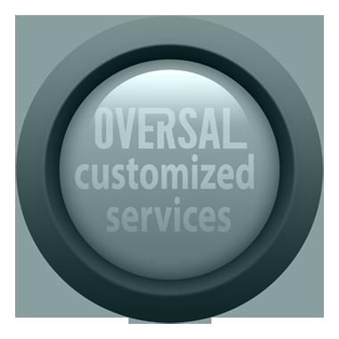 Customer services green round button